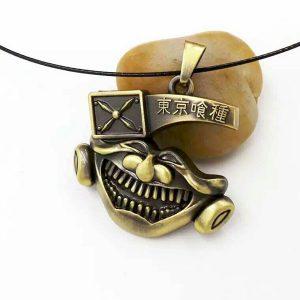 گردنبند ماسک کانیکی رنگ طلایی سری توکیو غول